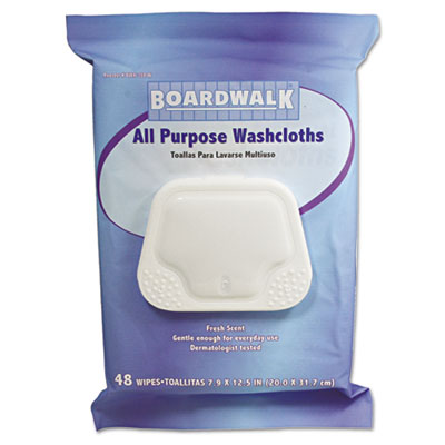 Premoistened Personal Washcloths, 12 1/2 x 7 9/10, Fresh Scent,