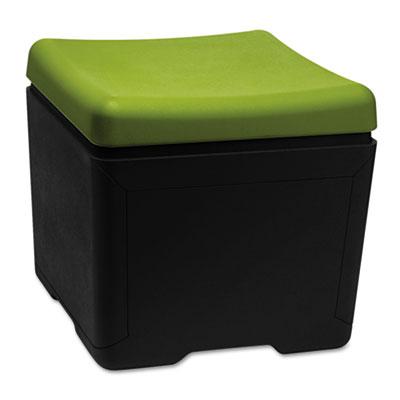 Otto File Ottoman, 18w x 18d x 17-1/4h, Green/Black