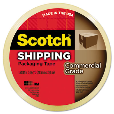 "3750 Commercial Grade Packaging Tape, 1.88"" x 54.6yds, 3"" Core,"
