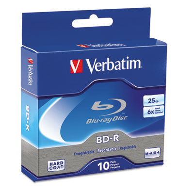 BD-R Blu-Ray Disc, 25GB, 6x, 10/Pk