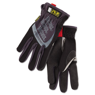 FastFit Work Gloves, Black, Medium