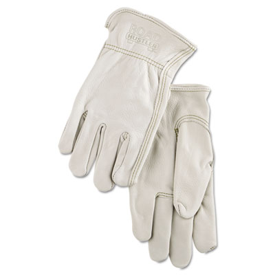 Full Leather Cow Grain Driver Gloves, Tan, Extra Large, 12 Pairs