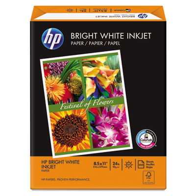 Bright White Inkjet Paper, 97 Brightness, 24lb, 8-1/2 x 11, 500