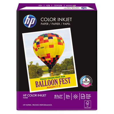 Color Inkjet Paper, 96 Brightness, 24lb, 8-1/2 x 11, White, 500