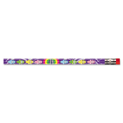 Decorated Wood Pencil, Whooos Special Day, HB #2, Assorted, Doze