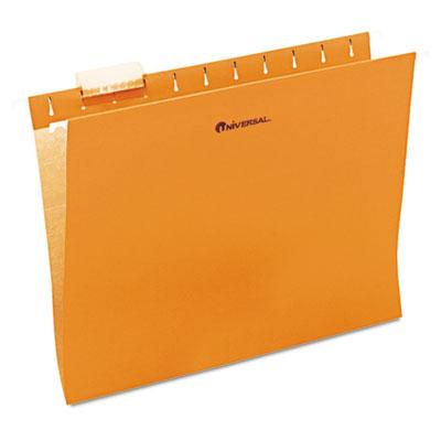 Hanging File Folder, 1/5 Tab, Letter, Orange, 25/BX