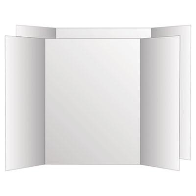 Two Cool Tri-Fold Poster Board, 36 x 48, White/White, 6/Carton<br />91-GEO-26790