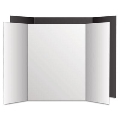 Too Cool Tri-Fold Poster Board, 36 x 48, Black/White, 6/PK<br />91-GEO-27135