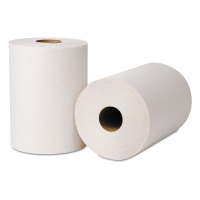 """Green Seal Hardwound Roll Towels, 425ft x 8"""", Natural White"""