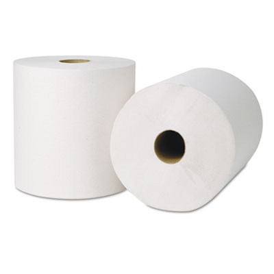 "Green Seal Hardwound Roll Towels, 800ft x 8"", White, 6 Rolls/Car"
