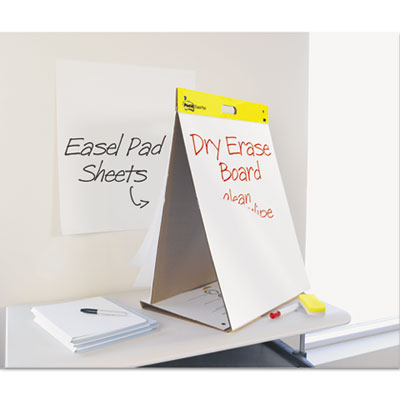 Dry Erase Tabletop Easel Unruled Pad, 20 x 23, White, 20 Sheets