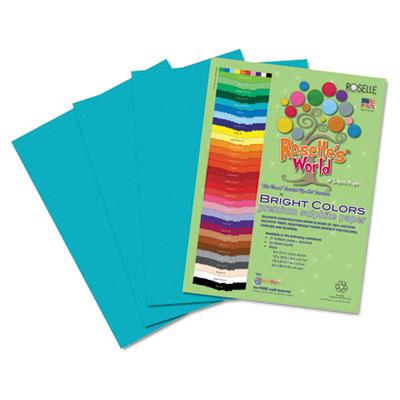 Premium Sulphite Construction Paper, 76 lbs., 9 x 12, Turquoise,