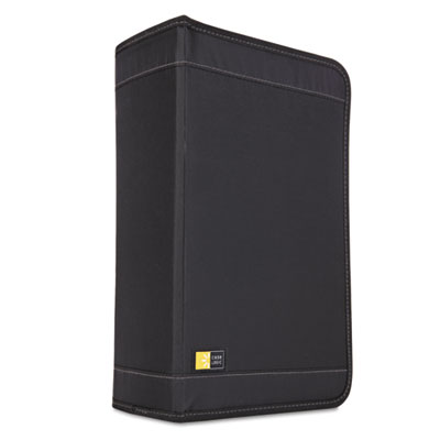 CD/DVD Wallet Holds 136 Discs, Nylon, Black