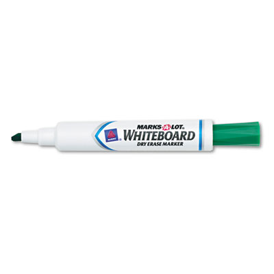 Desk Style Dry Erase Marker, Chisel Tip, Green, Dozen
