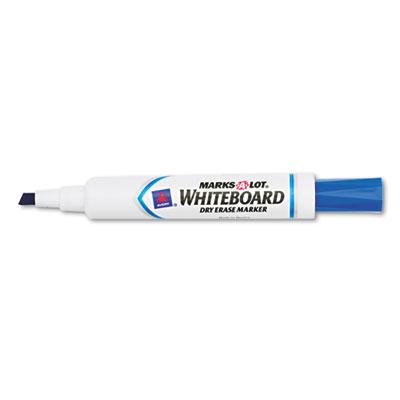 Desk Style Dry Erase Marker, Chisel Tip, Blue, Dozen