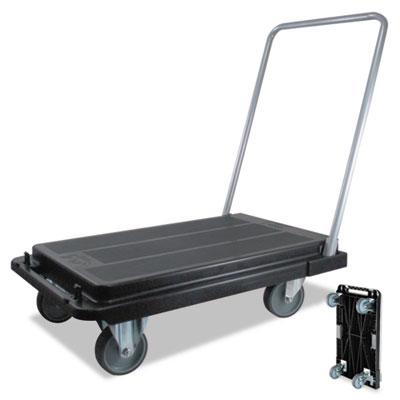 "Heavy-Duty Platform Cart, 300lb Capacity, 33""d x 21""w x 37""h, Bl"