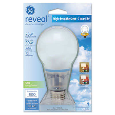 Compact Fluorescent Bulb, A21, Reveal
