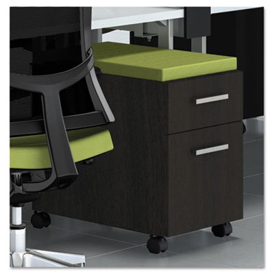 e5 Series Mobile Box/File Pedestal, 15-1/4w x 24d x 23h, Walnut