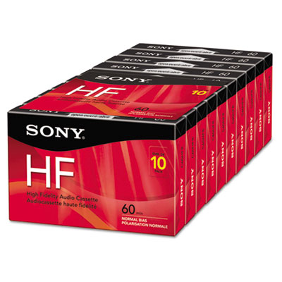 High Fidelity Audio Cassette, 60 Minutes, 10/Pack