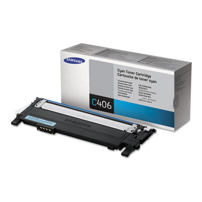 CLT-C406S (ST988A) Toner, 1000 Page-Yield, Cyan