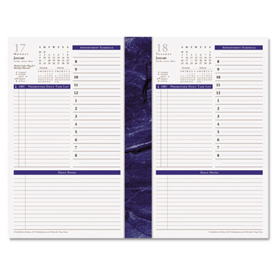Monticello Dated One-Page-per-Day Planner Refill, 5-1/2 x 8-1/2,