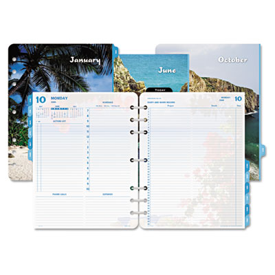 Coastlines Dated Two-Page-per-Day Organizer Refill, 8-1/2 x 11,