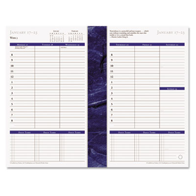 Monticello Dated Weekly/Monthly Planner Refill, 5-1/2 x 8-1/2, 2