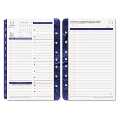 Monticello Dated Two-Page-per-Day Planner Refill, 5-1/2 x 8-1/2,