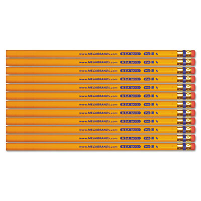 USA Gold Series #2 Pencils, Cedar, Yellow, Unsharpened, Dozen