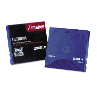 "1/2"" Ultrium LTO-2 Cartridge, 1998ft, 200GB Native/400GB Compres"