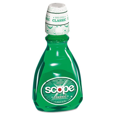 Mouthwash, Mint, 33.8oz Bottle, 6/Carton