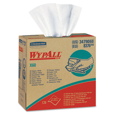 WYPALL X60 Wipers, Nylon, 9 1/8 x 16 7/8, 126/Box, 10 Boxes/Cart