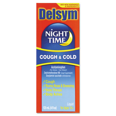 Adult Night Time Cough and Cold Liquid, Cherry, 4oz Bottle