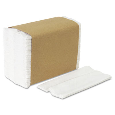 Tall Fold Dispenser Napkins, 1-Ply, 7 x 13 1/2, White, 10000/Car
