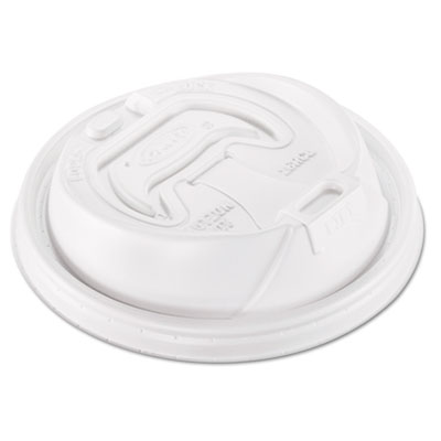 Optima Reclosable Lid, 12-24oz Foam Cups, White, 100/Bag, 10 Bag