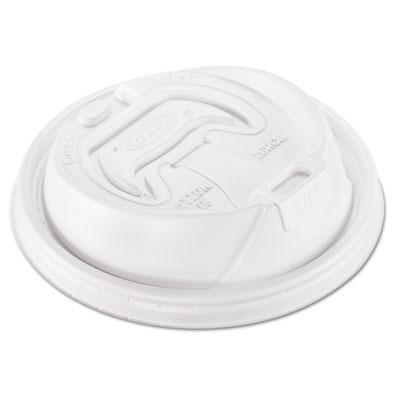 Optima Reclosable Lid, 12-24oz Foam Cups, White, 100/Bag, 10 Bag