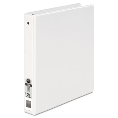 "Basic Round Ring Binder, 1"" Capacity, White"