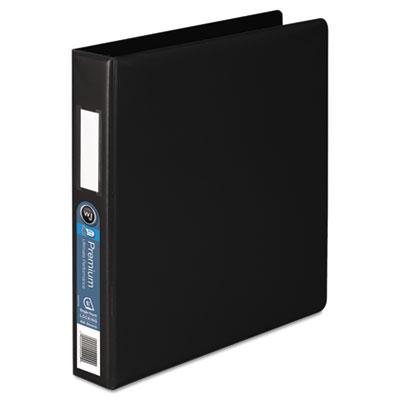 876 Single-Touch Locking D-Ring Binder, Label Holder, 4 Pocket,