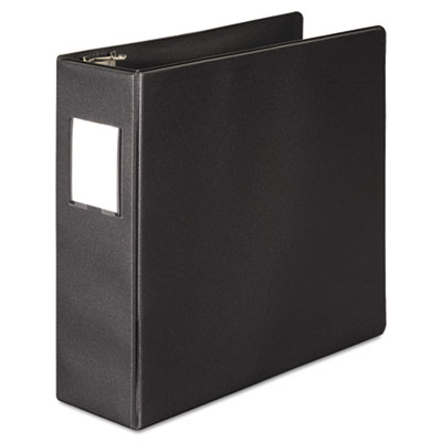 "383 Basic Binder with Label Holder, D-Ring, 3"" Capacity, Black"