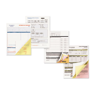 Carbonless Paper, 2-Part Reverse/Straight, 8-1/2 x 11, Canary/Wh