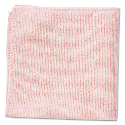 Microfiber Cleaning Cloths, 12 x 12, Red, 24/Pack