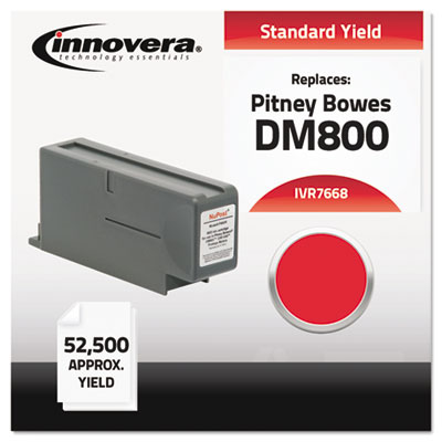 Compatible with 766-8 Postage Meter, 52500 Page-Yield, Red