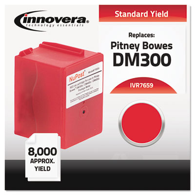 Compatible with 765-9 Postage Meter, 8000 Page-Yield, Red