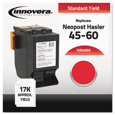 Compatible with IJINK3456H Postage Meter, 17000 Page-Yield, Red
