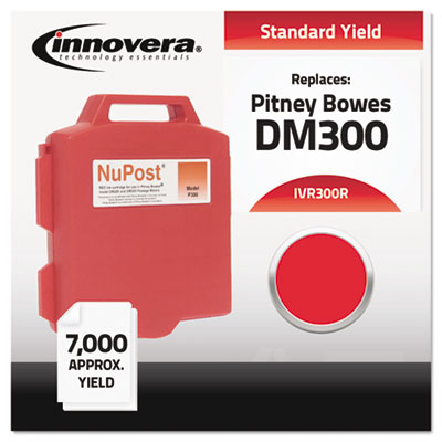 Compatible with 765-0 Postage Meter,  7000 Page-Yield, Red