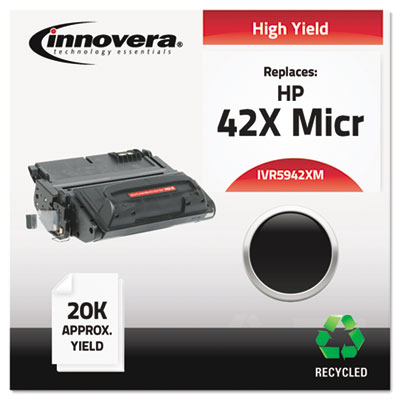 Remanufactured Q5942X (42X) High Yield MICR Toner, 20000 Page-Yi