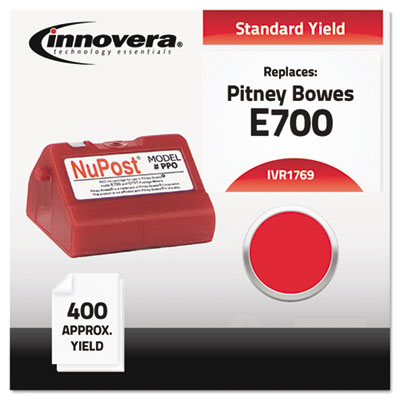 Compatible with 769-0 Postage Meter,  400-600 Page-Yield, Red
