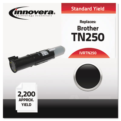 Compatible with TN250 Laser Toner, 2200 Page-Yield, Black