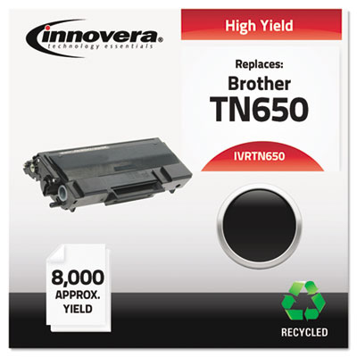 Remanufactured TN650 High-Yield Toner, Black<br />91-IVR-TN650