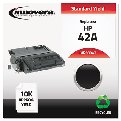 Remanufactured Q5942A (42A) Laser Toner, 10000 Yield, Black